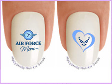 Nail Art #5604 MILITARY Air Force MOM Heart Wings Waterslide Nail Decal Transfer