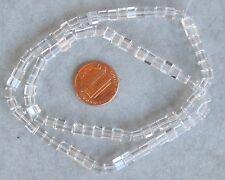 Machine cut crystal beads 98 beads 15 inch strand 4mm cube