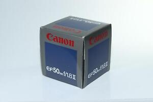 EMPTY RETAIL PRODUCT BOX for Canon EF 50mm f1.8 MkII Lens + Packaging