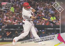 2017 Topps NOW 462 Yadier Molina Cardinals Slam Rookie Rally Cat RC Lorenzo Cain
