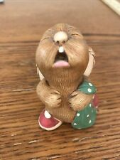 Vintage Pendelfin Bunny Rabbit Crying with Blanket- Hand Painted Stonecraft Fig