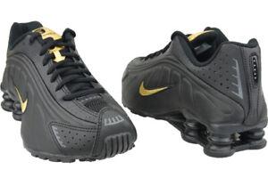 NIKE SHOX R4 GS 'Black Gold' Gold Youth / Women BQ4000-004 Shoes Size 5.5Y / 7US