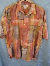 Travel Smith Cotton Lawn Shirt Size XXL Patchwork Print TravelSmith