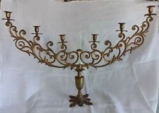 Grande Antico Candeliere In Bronzo  XIX Sec.