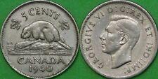 1940 Canada Nickel Graded as Extra Fine