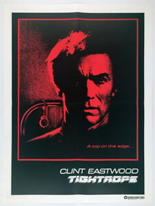 TIGHTROPE__Orig. 1985 handout publication / 18 x 24 movie POSTER__CLINT EASTWOOD