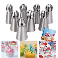8pcs/Set Russian Ball Piping Tips Cake Decorating Supplies Icing Piping Tips