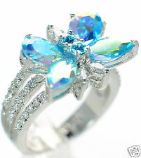 Kirks Folly Monarch Dream Aqua Butterfly Ring Size-8