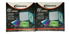 2 Packs Innovera Slim Cd Case Translucent Assorted Colors 10pack 81910