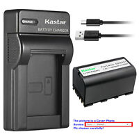 Kastar Battery Slim Charger for Leica GEB221 & Leica TS09 TS11 Total Station