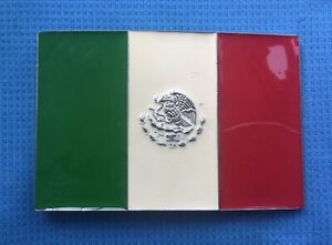 MEXICO  MEXICAN FLAG COUNTRY NORTH AMERICA FOOTBALL AZTEC CITY BELT BUCKLE