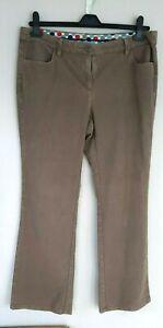 Boden 14R dark beige  heavy brushed soft trousers. Outdoor Dog Walk Winter work