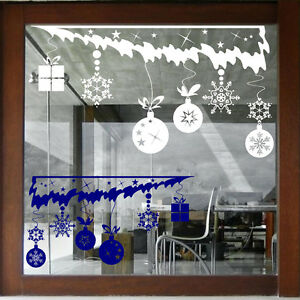 CHRISTMAS WALL STICKERS CHRISTMAS Window Stickers XMAS BAUBLES DECALS  N102