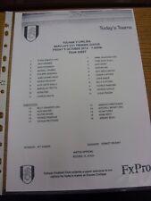 05/10/2012 Fulham U21 V Chelsea U21 (single hoja). gracias por ver nuestro artículo