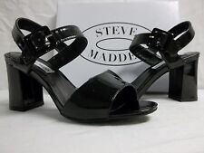 Steve Madden Size 8.5 M Blakey Black Patent Open Toe Heels New Womens Shoes