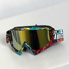 Motocross Goggles, Off-road Down Hill Dirt Bike Mtb Atv Goggles, Ravo Gold Plate