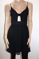 Styla Brand Black Sleeveless Front Cut Out A Line Dress Size 10 BNWT #TN36