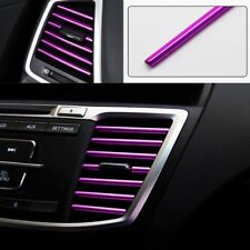 10 pcs U Shaped outlet blade air conditioning outlet decorative strip Purple