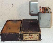 ANTIQUE HYPODERMATIC CASE SYRINGE HYPODERMIC MEDICINE 6 GLASS TUBES ORIGINAL BOX