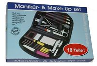 Nagelpflege set 18 teilig Maniküre Pediküre Make Up Nagelschere Nagelfeile