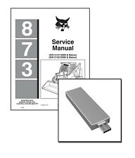 Bobcat 873 Skid Steer Loader Workshop Service Manual on New USB Stick
