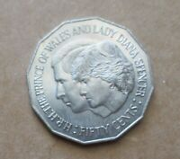 AUSTRALIAN ....1981 ROYAL WEDDING  50 CENT COIN.....