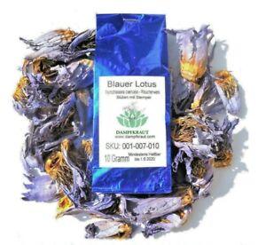 10 Gramm Blauer Lotus Blüten und Stamen (Nymphaea caerulea - Blue Lotus)