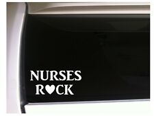 "Nurses Rock Car Decal Vinyl Sticker 6"" *K44 Nursing Medical Scrubs Doctor"