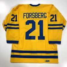 PETER FORSBERG AUTHENTIC TEAM SWEDEN OLYMPIC YELLOW JERSEY COLORADO AVALANCHE
