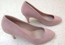 Dorothy Perkins Court Shoes Plush Pink Nude Mock Suede UK 6 Slip On Heel Wedding