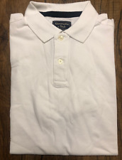 """Abercrombie & Fitch Af Logo Tape Stretch Polo White """"Medium"""""""