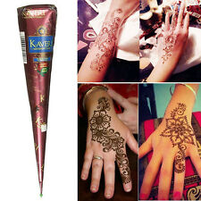 Black/White/Dark Brown Henna ointment Cones Temporary Tattoo body Art ink Herbal