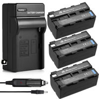 5200mah NP-F750 Li-ion Battery +Charger For Sony NP-F760 NP-F730 NP-F970 NP-F770