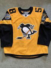 Reebok Edge 2.0 Pittsburgh Penguins 2017 Stadium Series Letang Jersey Size 56