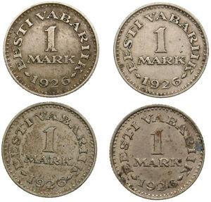 Estonia Coin 1926 1 Mark. 4 pcs.