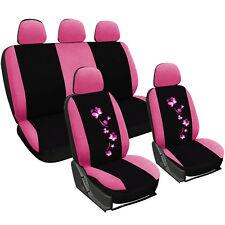 Auto Sitzbezug Sitzbezüge Schonbezüge Bezug Universal Set Pink/Schwarz AS7252