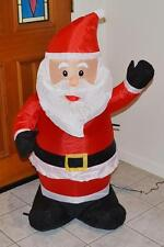 * Gemmy 4' Lighted Santa Claus Airblown Yard Inflatable Christmas