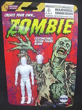 Create Your Own ZOMBIE - 4 inch Customizable Figure Blank - TONGUE OUT of HEAD