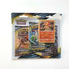 Pokémon Sealed Unbroken Bonds 3 Pack Blister (Typhlosion) - Sun & Moon