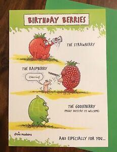 Up the garden path funny gardening card - 'Birthday Berries'