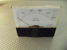 "Ac. Panel METER 0 - 150 v  Volts 4"" X 3 1/2"" NEW For CB Radio Ham Amp Amplifier"
