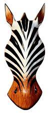 Tolle große 30 cm HOLZ Maske ZEBRA Tier Afrika Giraffe Handarbeit Bali Maske49