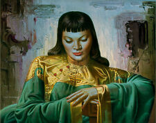 VLADIMIR TRETCHIKOFF Lady Of The Orient FAR EAST beauty silk kimono GOUTTELETTE