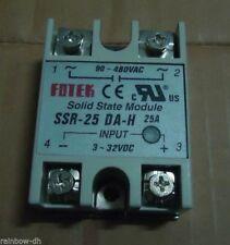 SSR-25DA-H  SSR-25 DA-H  480VAC NEW Fotek Soild State Relay free shipping  *PQT