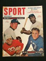 SPORT  Magazine (Vintage) Nov 1952 Robinson, Walker, Reynolds, Agganis  M1048