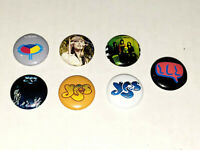 YES Band 1 Inch Buttons x7 NEW J. Anderson C. Squire S. Howe Lot A