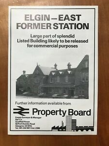 Elgin East Railway Station - Commercial Property - 1986 Press Cutting r399