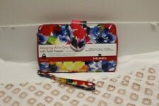 MUNDI All-in-One WALLET WRISTLET WITH SAFE KEEPER Floral holds Smart Phone