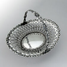 Louis XV Pierced Basket Fixed Handle Shell Feet Whiting Sterling Silver
