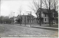 So State St from Church St Carthage Ny real photo postcard postally used in 1910